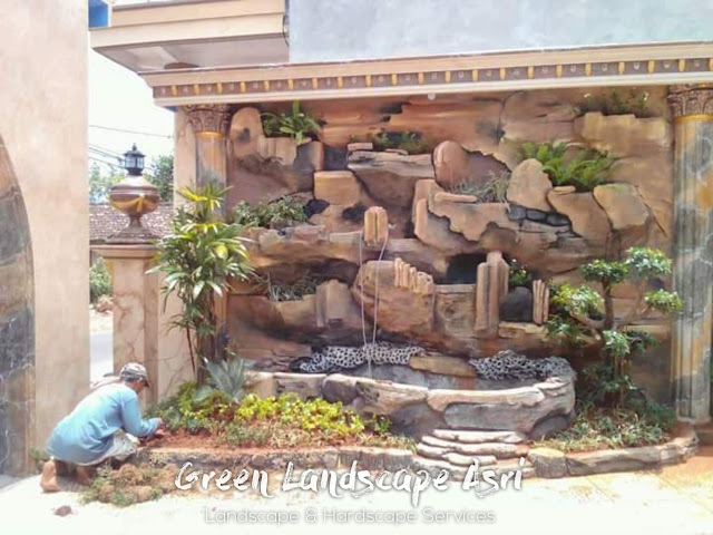 Jasa Pembuatan Relief Kolam Tebing Madiun   Tukang Dekorasi Relief Taman