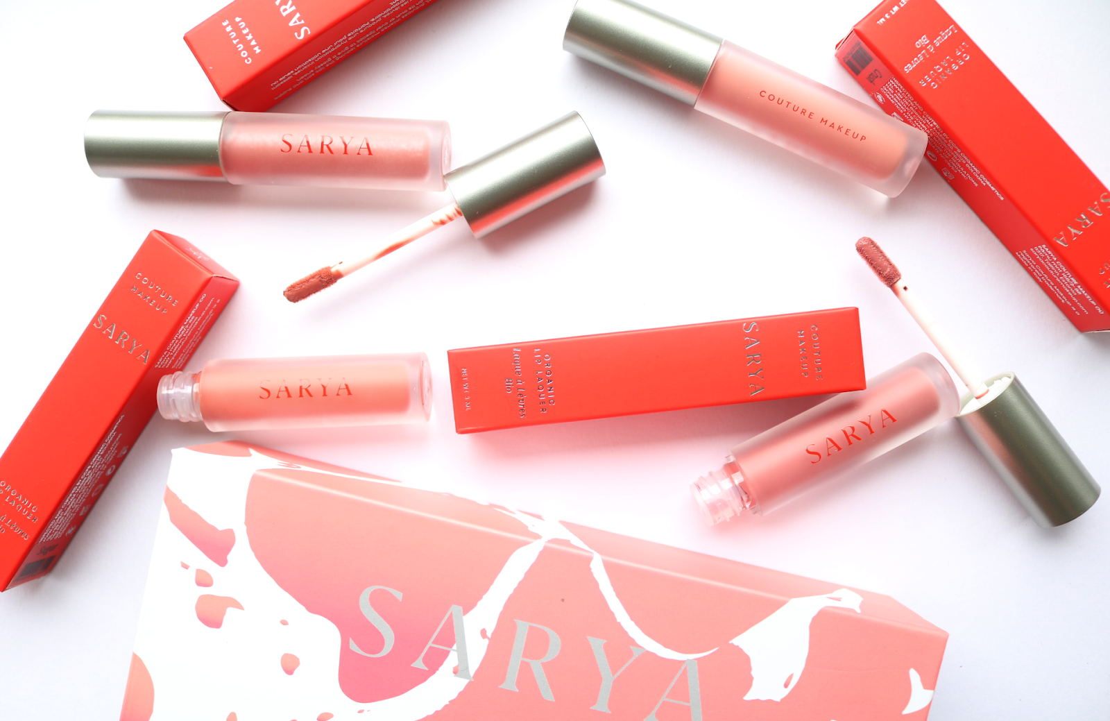 Organic Makeup: Sarya Couture Makeup Lip Lacquers & Lip Elixir Oil - Review & Swatches
