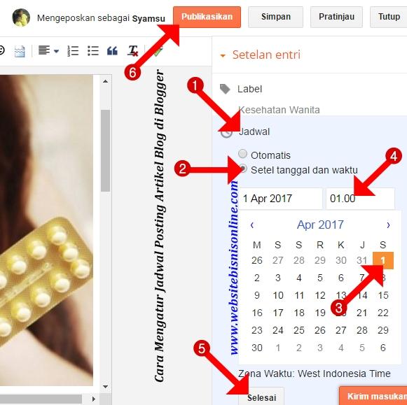Cara Setting Jadwal Posting Artikel Blog di Blogger agar Artikel Terpublikasi secara Otomatis