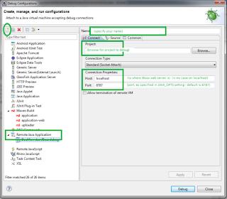 Config Remote Java Application