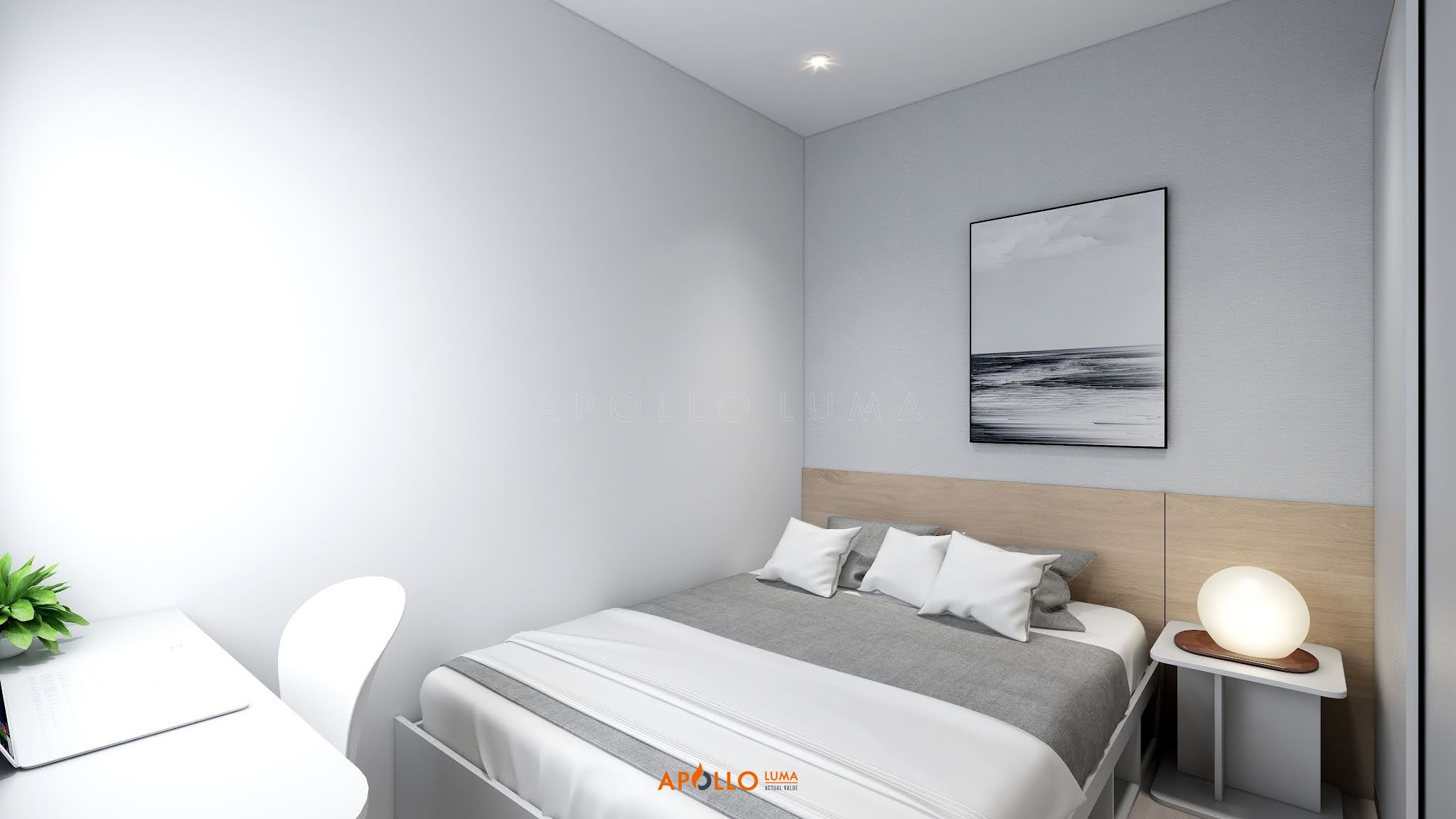 Thiết kế nội thất căn 2PN+1 (55m2) Vinhomes Ocean Park phong cách hiện đại