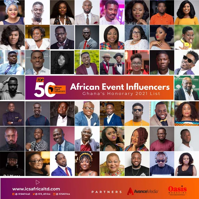 ICS Africa Announces 2021 Top 50 Ghanaian Event Influencers in Africa