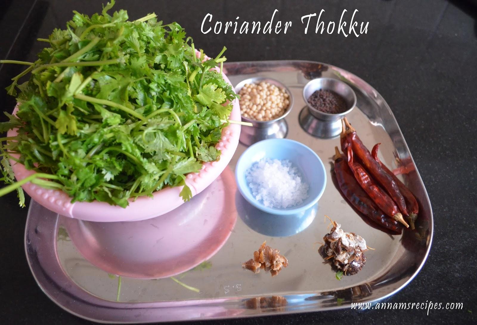 Coriander Thokku