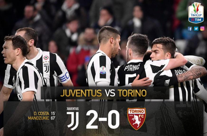 Juventus-Torino 2-0: Douglas Costa e Mandzukic spingono i Bianconeri in Semifinale | Calcio Coppa Italia