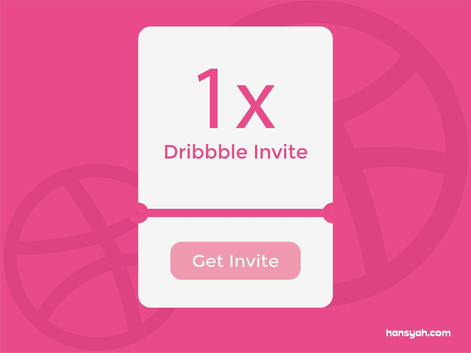 Giveaway dribbble invitation