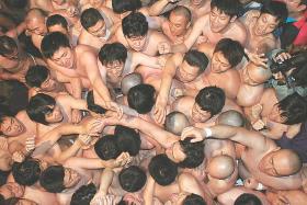 黒石寺で蘇民祭