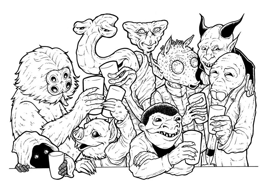 mos eisley and coloring pages - photo#2