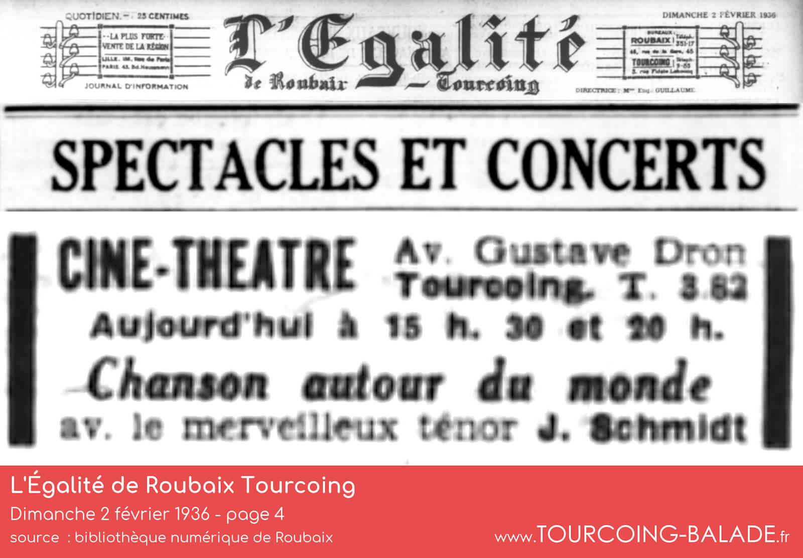 Ciné-Théâtre Concordia, Tourcoing