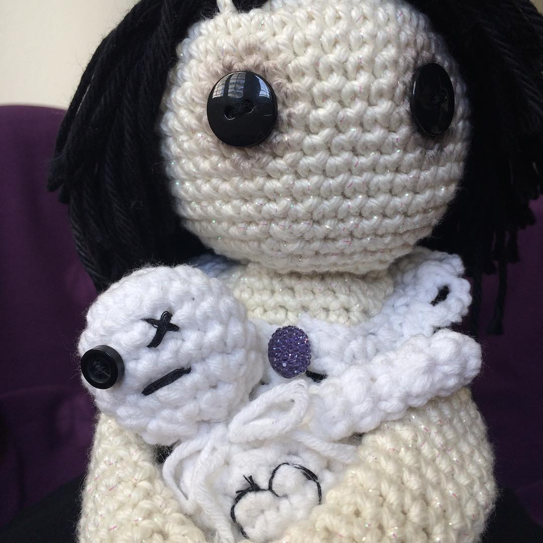 AMIGURUMI CROCHET GOTHIC DOLL WITH VOODOO TOY. AMIGURUMI CROCHET ... | 1080x1080