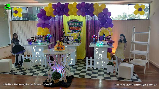 Cúmplices de um Resgate - decoração festa de aniversário infantil feminino - Provençal simples