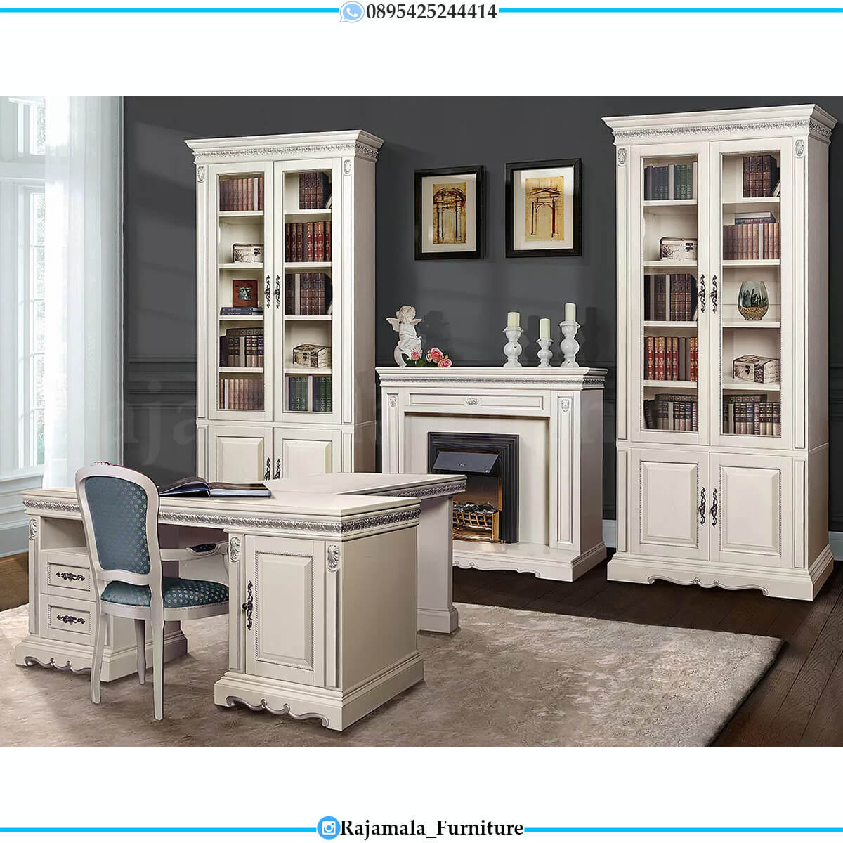 Desain Meja Kantor Mewah Terbaru Furniture Jepara Terbaru RM-0570