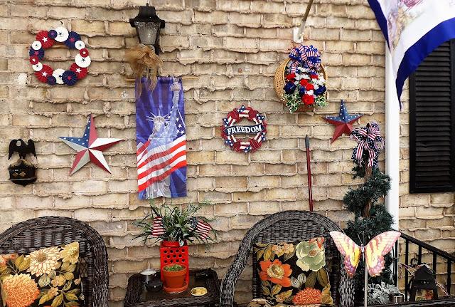 Debbie Dabble Blog Patriotic Front Porch For July 4th 2017