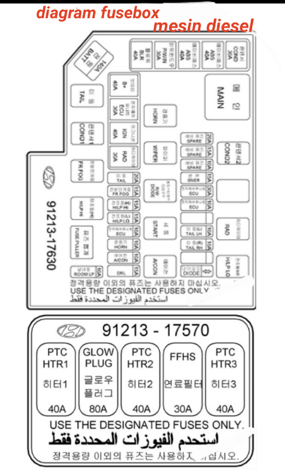 Letak box sekring dan relay HYUNDAI MATRIX 2006-2007