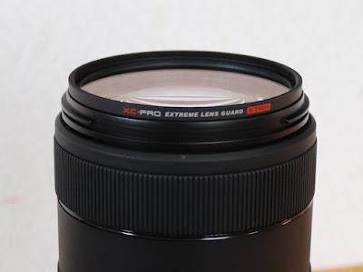 ハクバ XC-PRO エクストリーム レンズガード フィルター径:67mm を Canon EF70-300mm F4-5.6 IS II USM 望遠レンズに装着