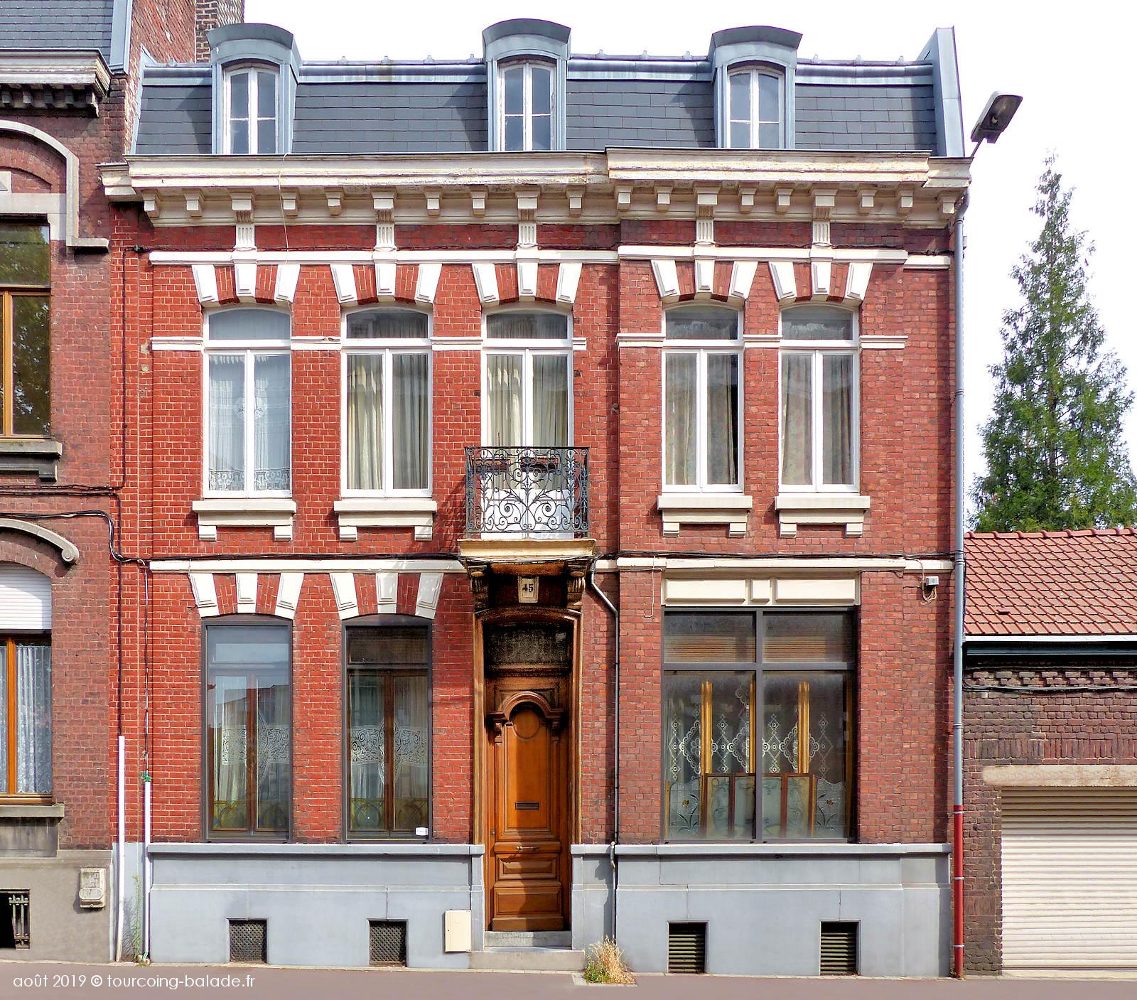 Maison de maître, rue Chanzy, Tourcoing 2019