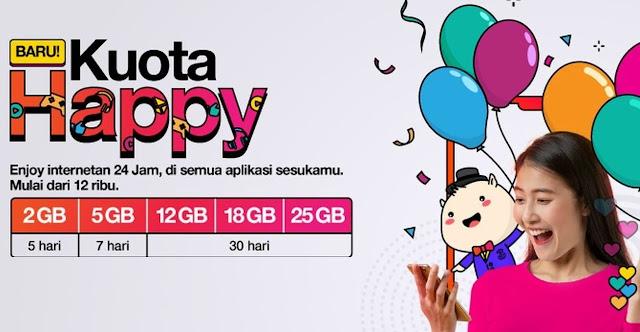 Paket Internet Kuota Happy Tri Ada Rp 25.000 Hingga Kuota 25GB