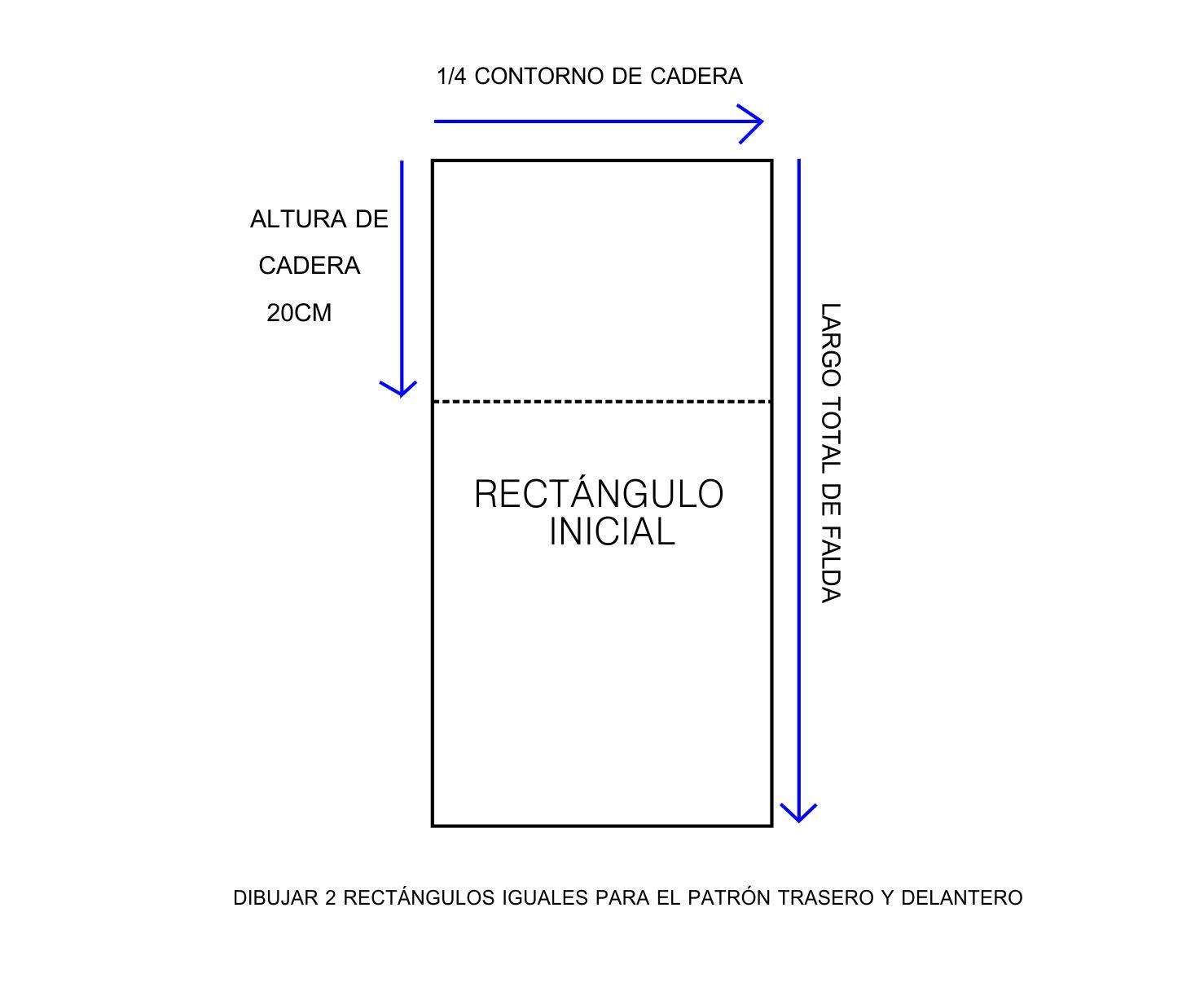 a4a890e1e MOLDE BASE -FALDA DELANTERO Y ESPALDA - NIÑA MOZZA
