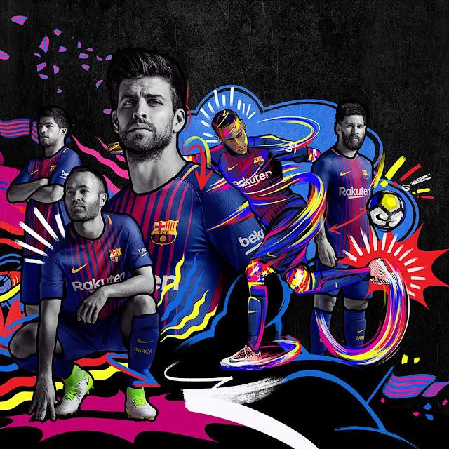 Le nouveau maillot du FC Barcelone pour la saison 2017/18 vient d'être dévoilé