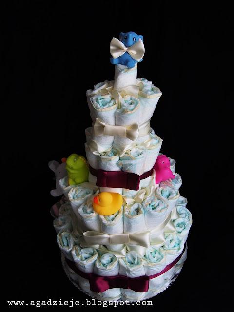 Tort pieluszkowy ( diaper cake )