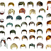 Hairstyles of men and women PSD
