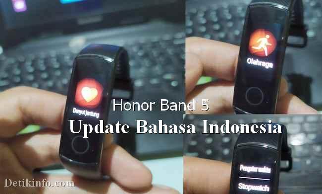 Ganti bahasa indonesia honor band 5