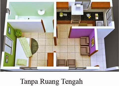 desain rumah sederhana tipe 36 lantai 1 simple murah