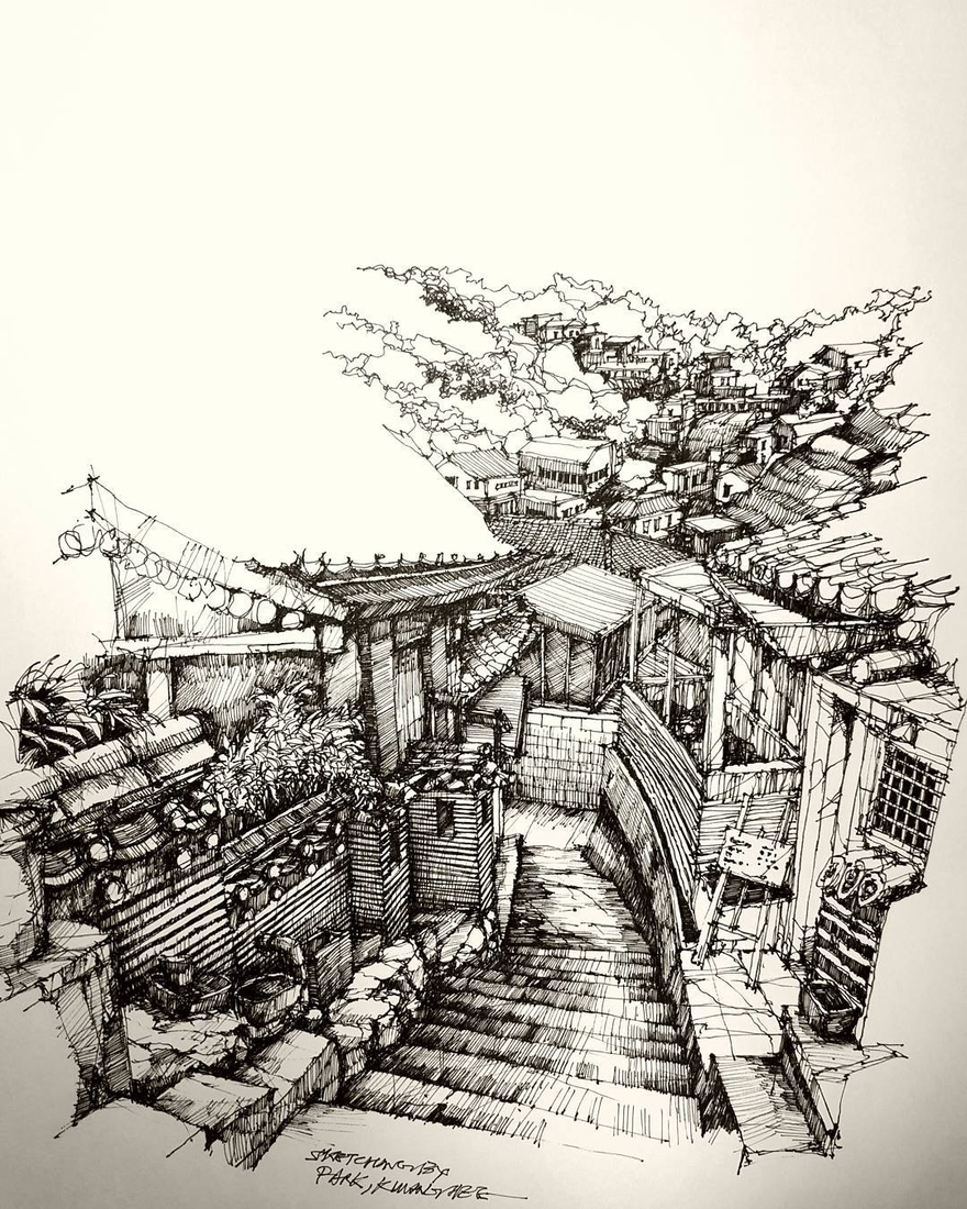 06-Park-Kwang-Hee-Architectural-Sketches-Interior-Exterior-Old-and-New-www-designstack-co