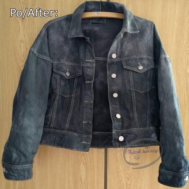 DIY farbowanie kurtki jeansowej na ciemny kolor