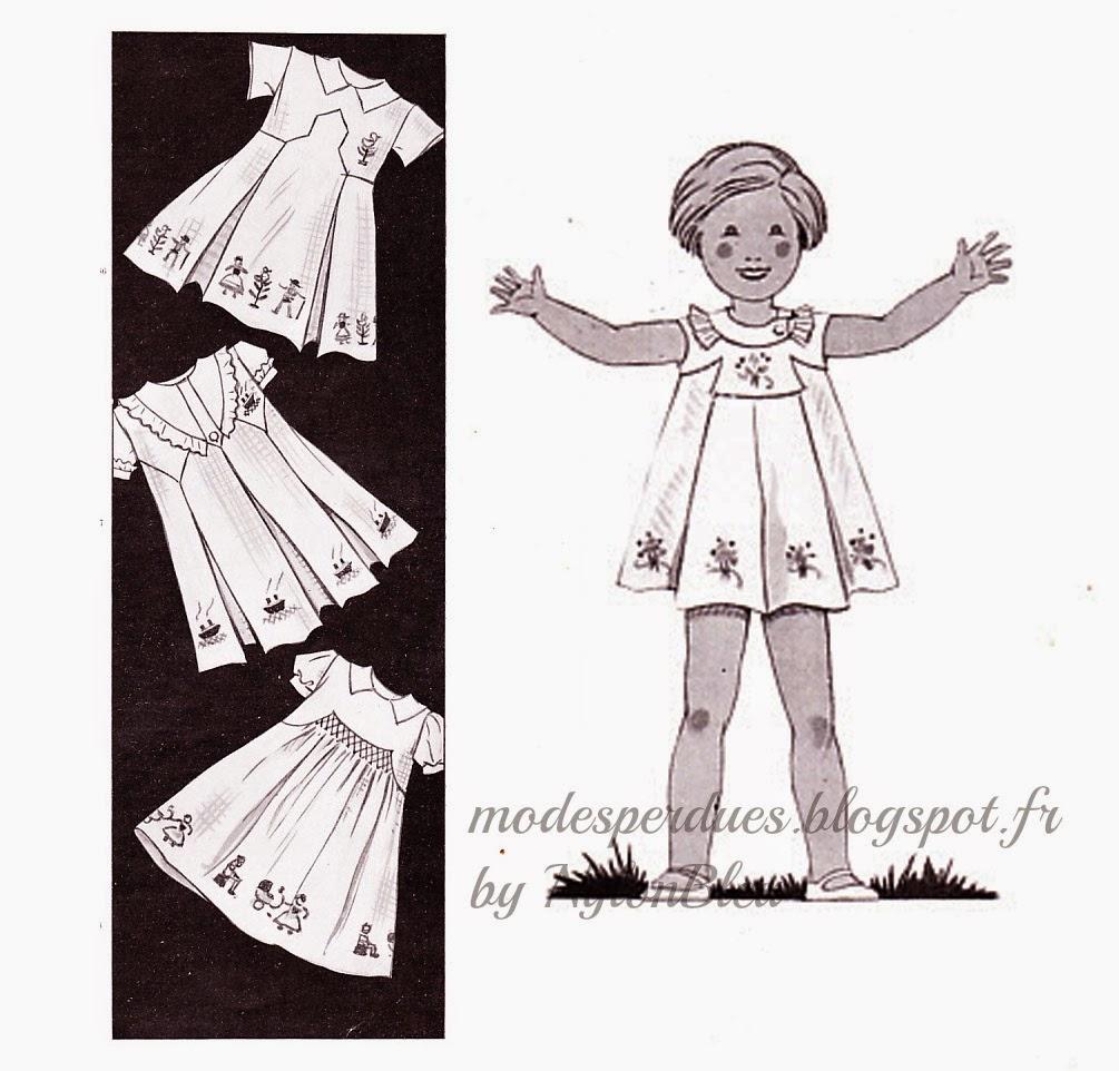 6f99d5bbe83 Croquis de mode pour présenter les patrons de diverses tenues d automne pour  jeunes filles adolescentes édités par les éditions Modes et Travaux.