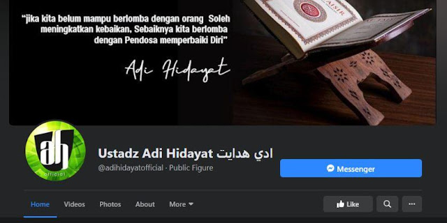 Alamat Website & Sosial Media Resmi (Official) Ustadz Adi Hidayat