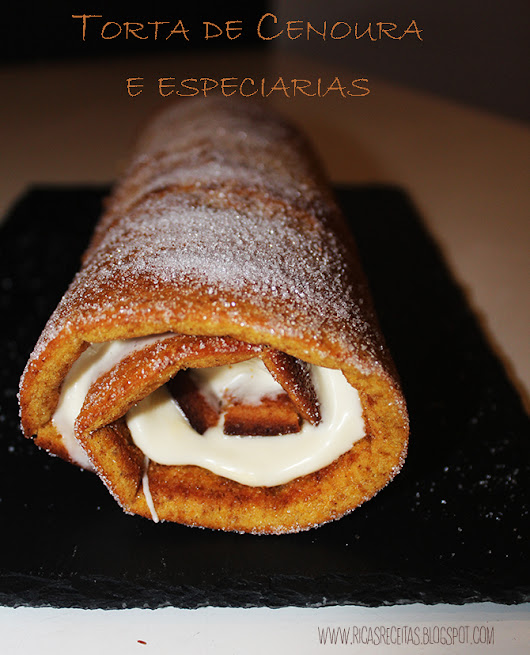 Torta de cenoura e especiarias | Carrot roll with spices
