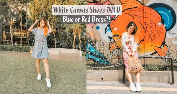 White Canvas Shoes - Monthly Weekend Outfit #SharonOOTD