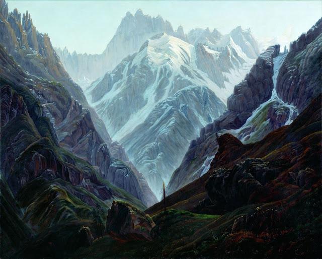 Carl Gustav Carus - The High Mountain - 1824