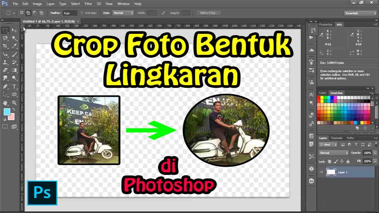 Cara Crop Foto Bentuk Lingkaran di Photoshop