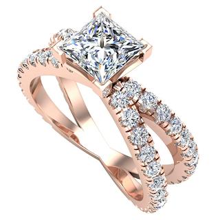 Nhẫn cầu hôn kim cương thiết kế độc đáo