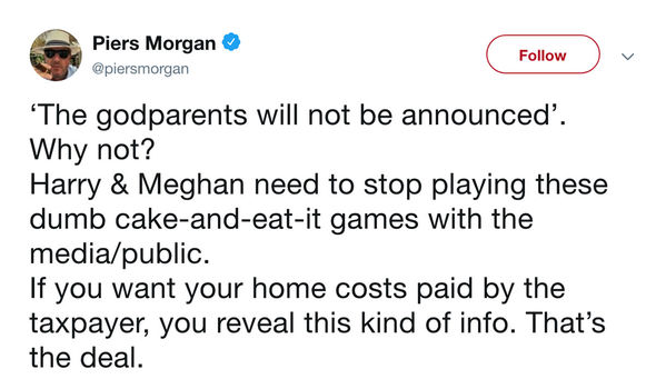 Meghan and Harry accused of 'hypocrisy' by Piers Morgan