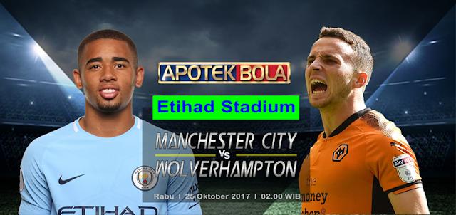 Manchester City vs Wolverhampton 25 Oktober 2017