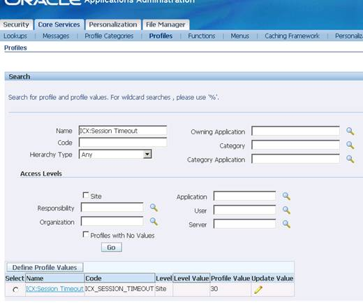 How To Increase Session Timeout In Oracle Apps R12