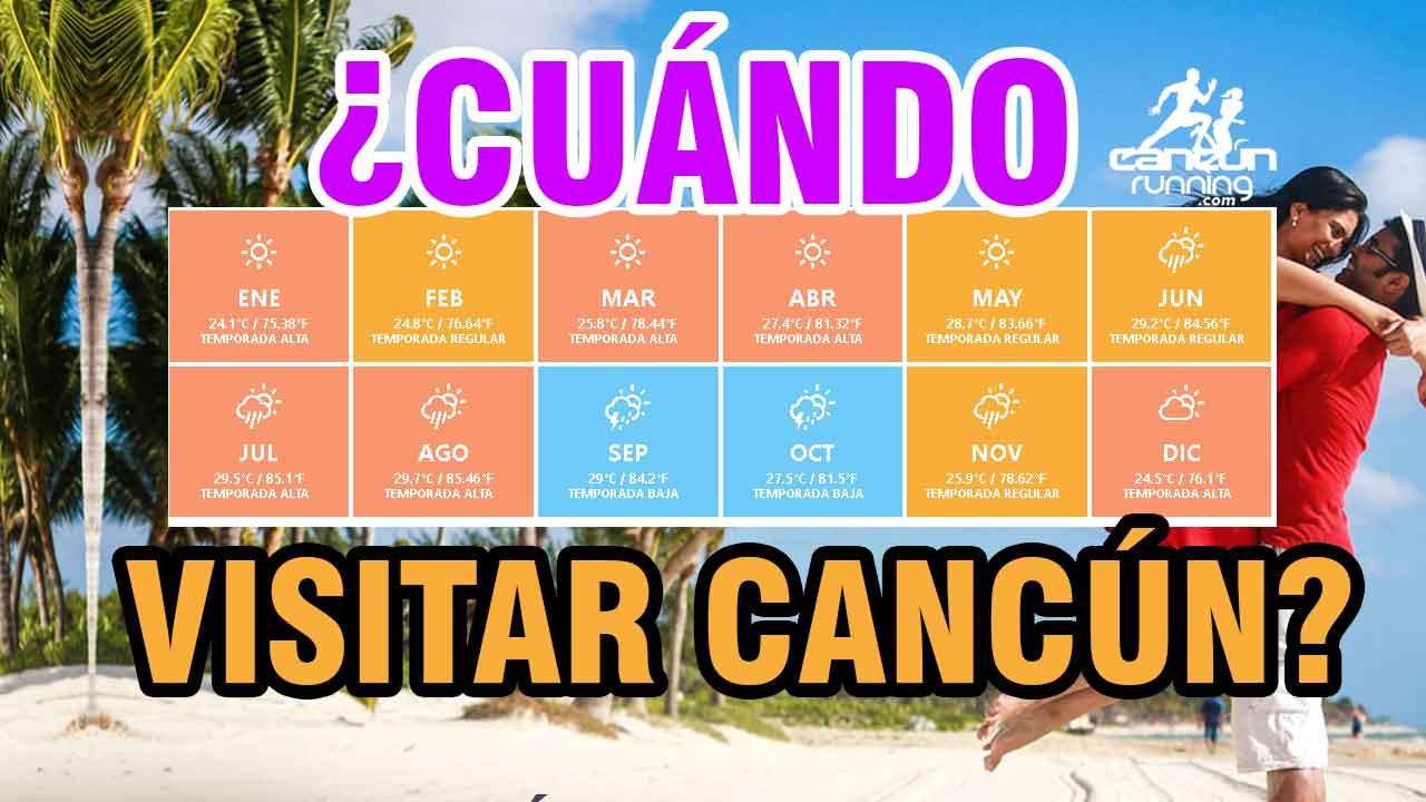 el mejor momento para viajar a cancun