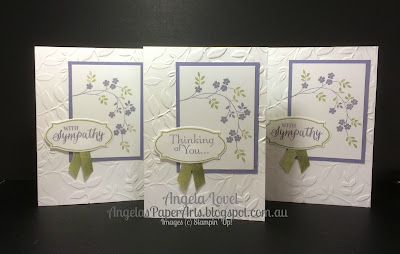 Stampin' Up! Thoughts & Prayers sympathy card by Angela Lovel, Angela's PaperArts