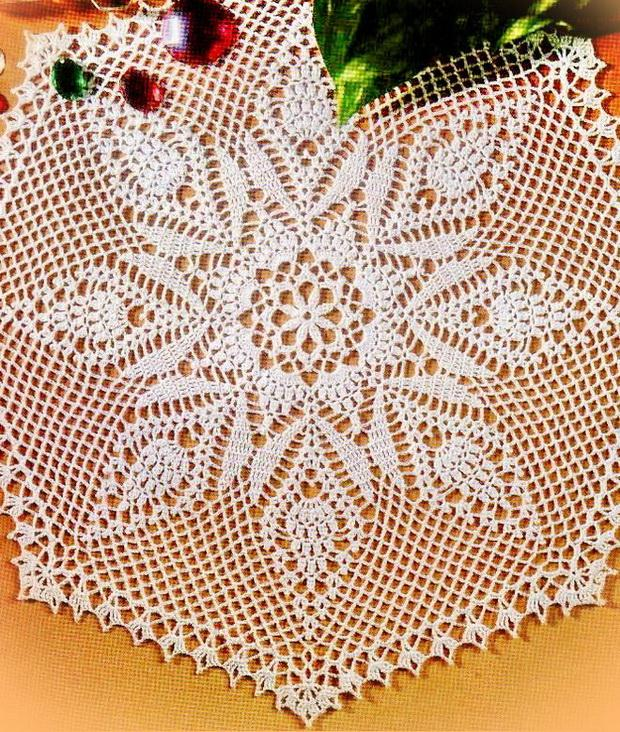 Crochet Doily Pattern - Beautiful Different Pineapple Motif