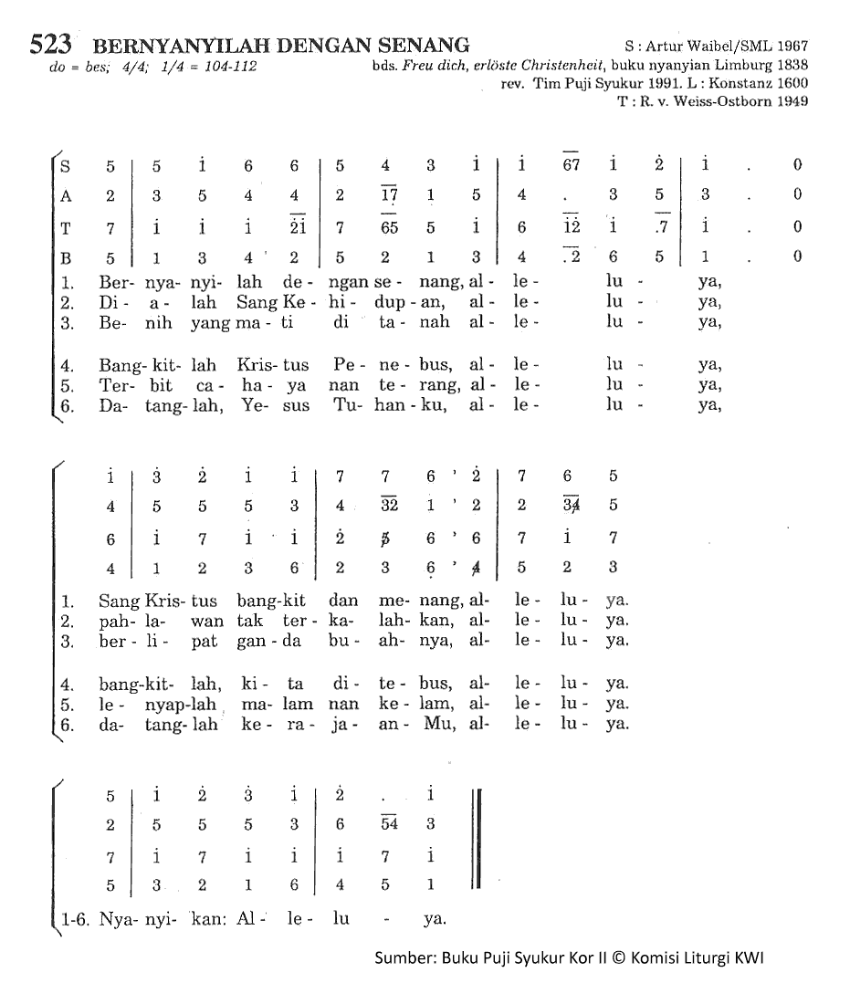 Lirik Dan Chord Lagu Bernyanyilah Dengan Senang