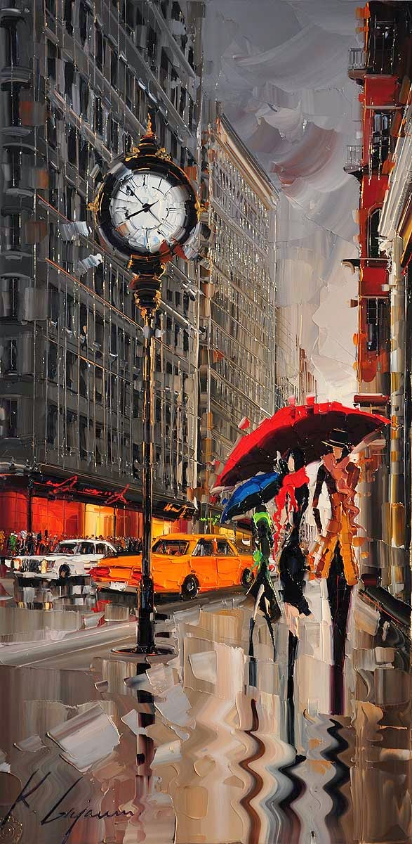 16-Fifth-Avenue-New-York-Kal-Gajoum-Paintings-of-Dream-Like Cities-of-the-World-www-designstack-co