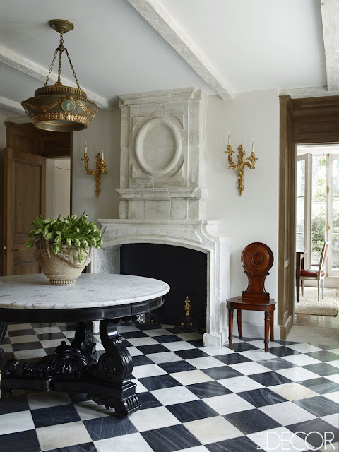 Emma Jane Pilkington home with marble checkered floors