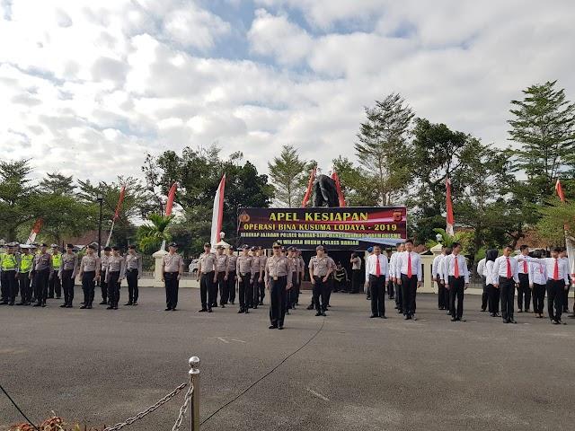 Kapolres Banjar Pimpin Apel Kesiapan Operasi Bina Kusuma Lodaya Tahun 2019