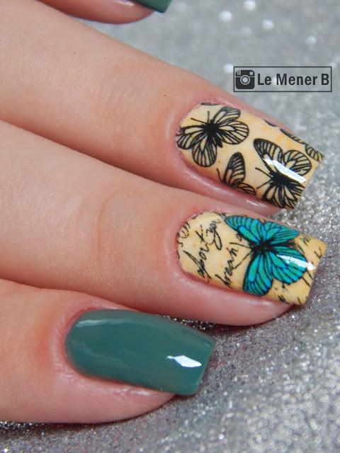 nail art borboletas