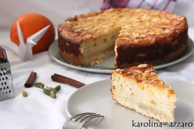 Pomarančovo mandľový Cheesecake  (Ricotta)