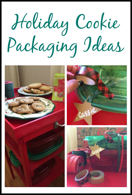 Customize your holiday cookie packages with festive tags, washi tape, and ribbon!
