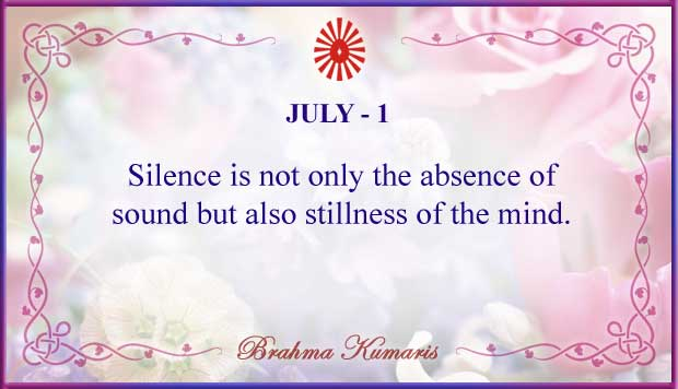 Thought For The Day July 1