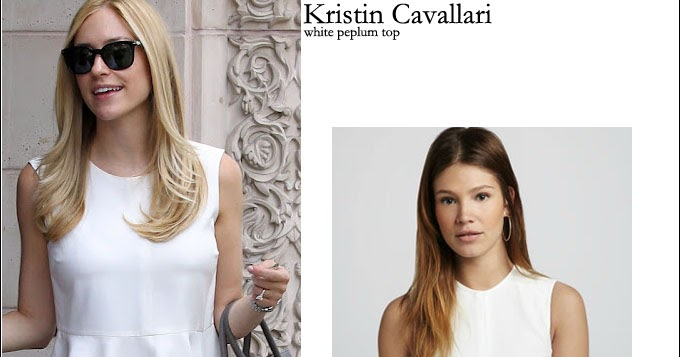 fc168ed31fc2 WHAT SHE WORE: Kristin Cavallari in white Elizabeth and James peplum top ~  I want her style - What celebrities wore and where to buy it. Celebrity  Style